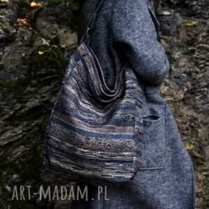 ręcznie wykonane na ramię torebka iks vege navaho szary grafit