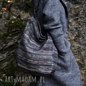 torba na ramię szare iks worek vege navaho szary grafit