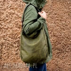 wyjątkowe na ramię torba iks worek vegan zieleń