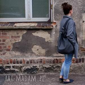torba na ramię iks worek vege grafit czer&#324