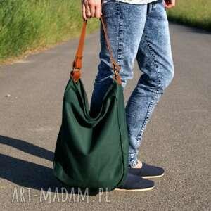 na ramię torba iks worek drelich zieleń