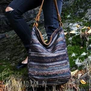 modne na ramię torba iks worek vege navaho brąz rudy
