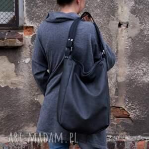 czarne na ramię grafit iks worek vege czer&#324