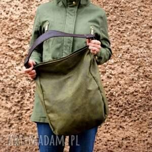 zielone na ramię torba iks worek vegan zieleń
