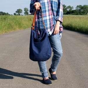 niebieskie na ramię torba iks worek drelich granat rudy