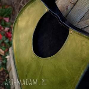 zielone gitara janis skórzana torba inspirowana