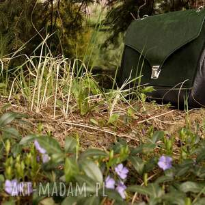 na ramię zielona józefina czarno-zielona torba a4