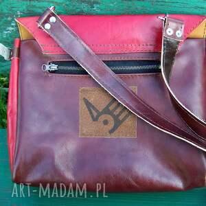 na ramię kuferek józefina czereśniowa torba a4