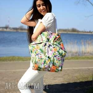 urokliwe na ramię torba-na-ramię kolorowa torba w liscie palm