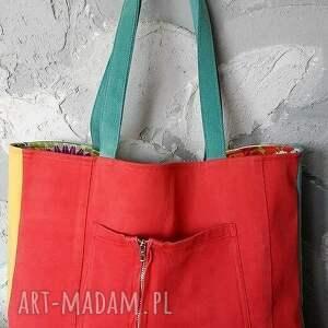 torebka na ramię kolorowa torba z kwadracików