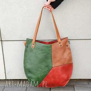 torebka miejska na ramię kolorowa torba