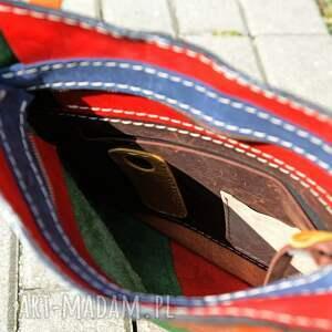 urokliwe na ramię torebka miejska kolorowa torba