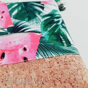 kopertówka na ramię zielone arbuzowa