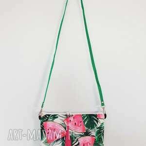 różowe na ramię arbuzowa kopertówka