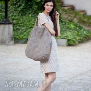 512fb23f23209 trendy na ramię duże 06 -0009 kremowa torba worek xxl
