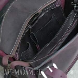 intrygujące na ramię torba kuferek z organizerem skórzana