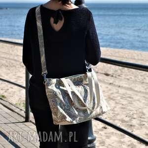 ręcznie robione na ramię torba na lekka i poręczna z wzorem