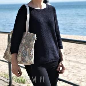 ręcznie robione na ramię torba lekka i poręczna z wzorem