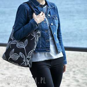 handmade na ramię torba lekka i poręczna czarna