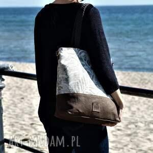 beżowe na ramię torebka lekka i poręczna torba miejska