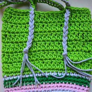zielone na ramię torebka letnia ze sznurka boho