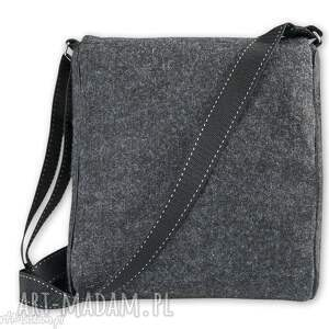 unikalne na ramię torebka listonoszka filcowa mini - motyw