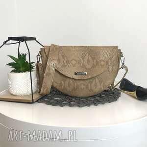 torebka na ramię beżowe listonoszka klasyczna ponadczasowa