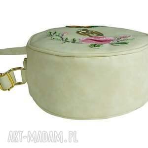 trendy na ramię torebka listonoszka koło muflon z haftem