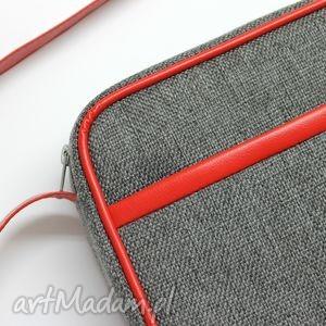 pomysł na świąteczne prezenty elegancka mała torba miejska - tkanina szara