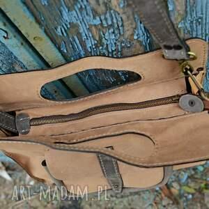 ręcznie zrobione skórzana torebka mała na ramię
