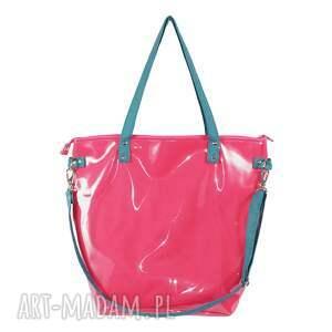 różowe na ramię torba-damska malinowa torba damska