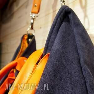 ręcznie wykonane na ramię mana xl granat&orange