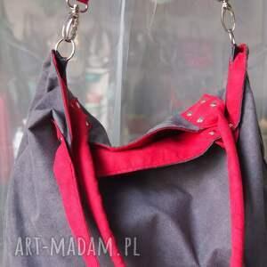 handmade na ramię pojemna mana mysza red