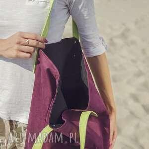 na ramię torba mana worek śliwka & jabłuszko