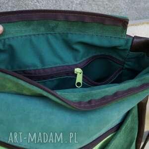 zielone na ramię maryjanna skórzana torba odcienie