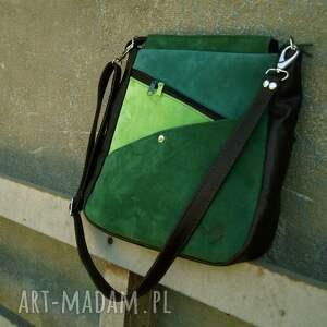 hand made na ramię zieleni maryjanna skórzana torba odcienie