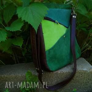 zieleni na ramię maryjanna skórzana torba odcienie