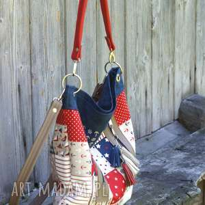 na ramię torebka marynarski mix