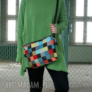 kolorowe na ramię midi vegan mozaika