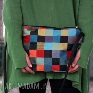 torebka na ramię midi vegan mozaika