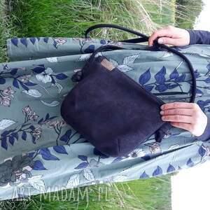 unikatowe na ramię torba mini czerń sznurki