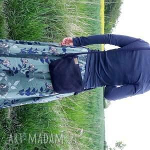na ramię torebka mini czerń sznurki