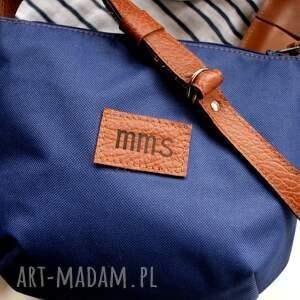 hand-made na ramię torba mini marine