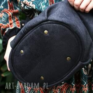 na ramię torba torebka - worek uszyty z tkaniny syntetycznej