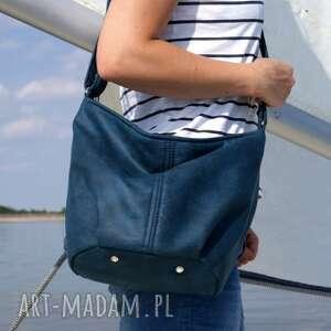 na ramię torebka mini sak vegan morski