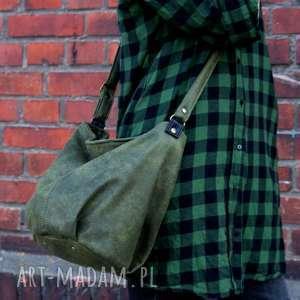 eleganckie na ramię torba mini sak vege zieleń