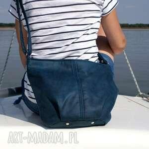 intrygujące na ramię torba mini sak vegan morski