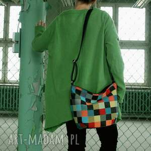 trendy na ramię torba mini sak vegan mozaika