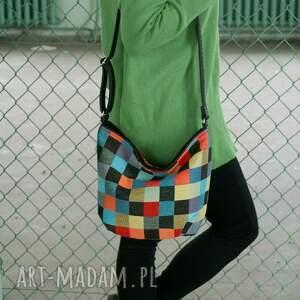 kolorowe na ramię torba mini sak vegan mozaika