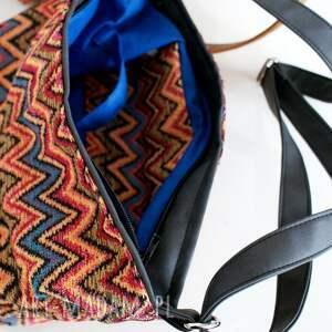 na ramię torba mini sak etno vege czerń